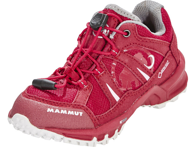 Mammut First Low GTX Shoes Kids dark magenta-white